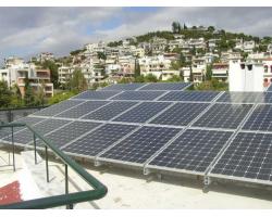 Φ/Β σύστημα ισχύος 10 kWp σε ταράτσα πολυκατοικίας στο Χαιδάρι Αττικής