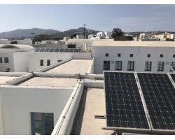 Διασύνδεση Φ/Β συστήματος στην οροφή του Γυμνασίου Μεσσαριάς, Σαντορίνη