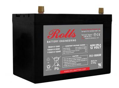 Συσσωρευτής Rolls - 12V - R12-100 AGM